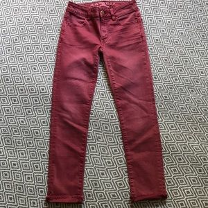 American Eagle Outfitters Jeans - New✨American Eagle Burgundy Jegging Crop Size 00